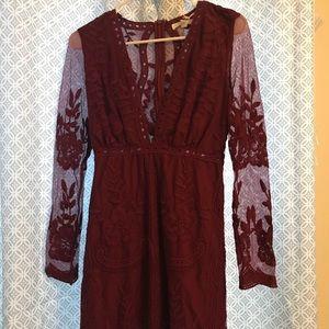 Honey Punch Embroidered Lace Mini Dress Size XS